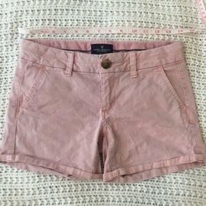 Pink American eagle shorts, midi length